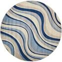 "Nourison Somerset 5'6"" x 5'6"" Ivory Blue Round Rug - Item Number: ST81 IVBLU 56X56"
