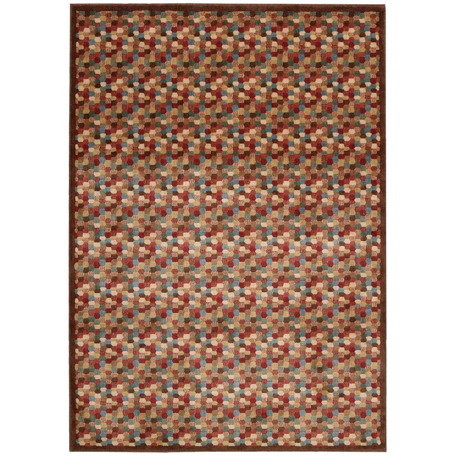 "3'6"" x 5'6"" Multicolor Rectangle Rug"