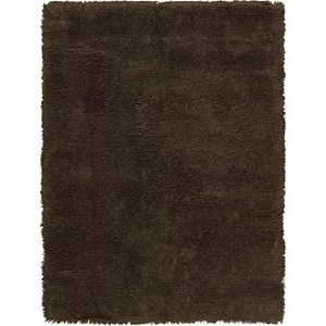 "Nourison Splendor 7'6"" x 9'6"" Chocolate Area Rug"