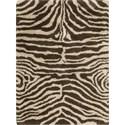 Nourison Splendor 5' x 7' Ivory Brown Area Rug - Item Number: 01132