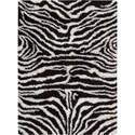 Nourison Splendor 5' x 7' Black White Area Rug - Item Number: 01136