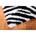 Nourison Splendor 5' x 7' Black White Area Rug
