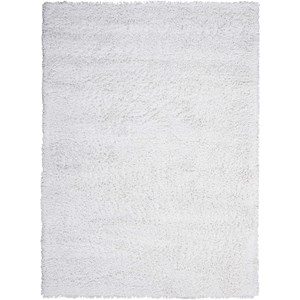 5' x 7' White Rectangle Rug