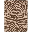 "Nourison Splendor 2'3"" x 3'9"" Ivory/Brown Rectangle Rug - Item Number: SPL17 IBN 23X39"