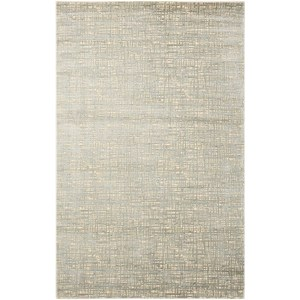"Nourison Starlight 5'3"" x 7'5"" Sea Mist Rectangle Rug"