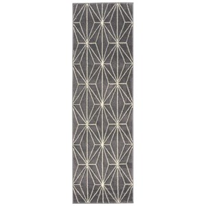 "Nourison Studio 2'2"" x 7'3"" Grey Runner Rug"