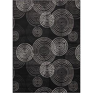 "Nourison Studio 3'11"" x 5'3"" Black Rectangle Rug"