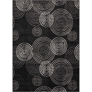 "Nourison Studio 7'10"" x 10'6"" Black Rectangle Rug"