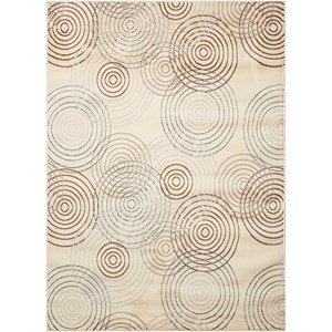 "Nourison Studio 3'11"" x 5'3"" Ivory Rectangle Rug"