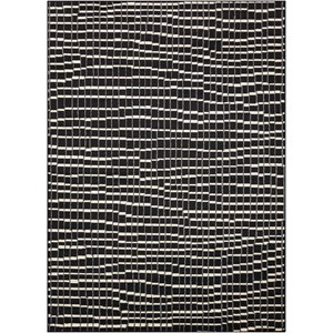 "Nourison Studio 3'11"" x 5'3"" Black Rectangle Rug"