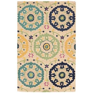"Nourison Suzani 2'6"" x 4' Ivory Rectangle Rug"