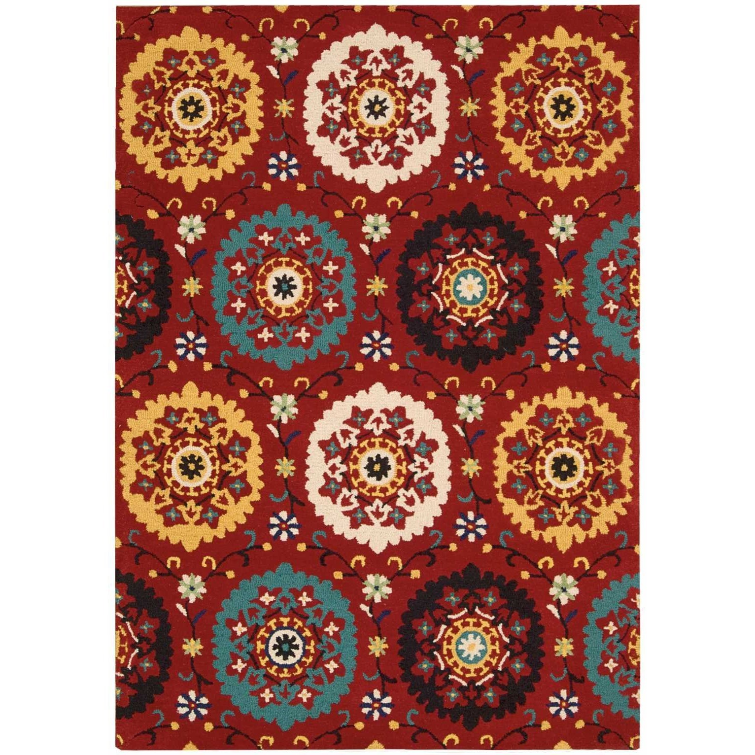 """8' x 10'6"""" Red Rectangle Rug"""