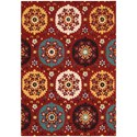 "Nourison Suzani 8' x 10'6"" Red Rectangle Rug - Item Number: SUZ01 RED 8X106"