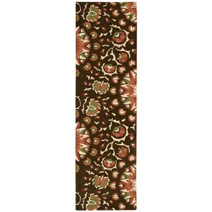 "Nourison Suzani 2'3"" x 8' Brown Runner Rug"