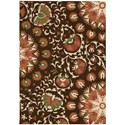 "Nourison Suzani 3'9"" x 5'9"" Brown Rectangle Rug - Item Number: SUZ02 BRN 39X59"