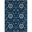"Nourison Suzani 3'9"" x 5'9"" Navy Rectangle Rug - Item Number: SUZ07 NAV 39X59"