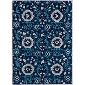 "Nourison Suzani 8' x 10'6"" Navy Rectangle Rug"
