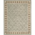 "Nourison Symphony 7'6"" x 9'6"" Light Green Area Rug - Item Number: 02296"