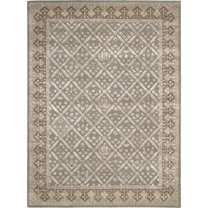 "Nourison Symphony 9'6"" x 13' Light Green Area Rug"