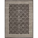 "Nourison Symphony 5'6"" x 7'5"" Charcoal Area Rug - Item Number: 02329"