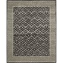 "Nourison Symphony 7'6"" x 9'6"" Charcoal Area Rug - Item Number: 02330"