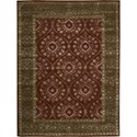 "Nourison Symphony 5'6"" x 7'5"" Ruby Area Rug - Item Number: 02338"