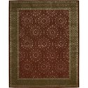"Nourison Symphony 7'6"" x 9'6"" Ruby Area Rug - Item Number: 02339"