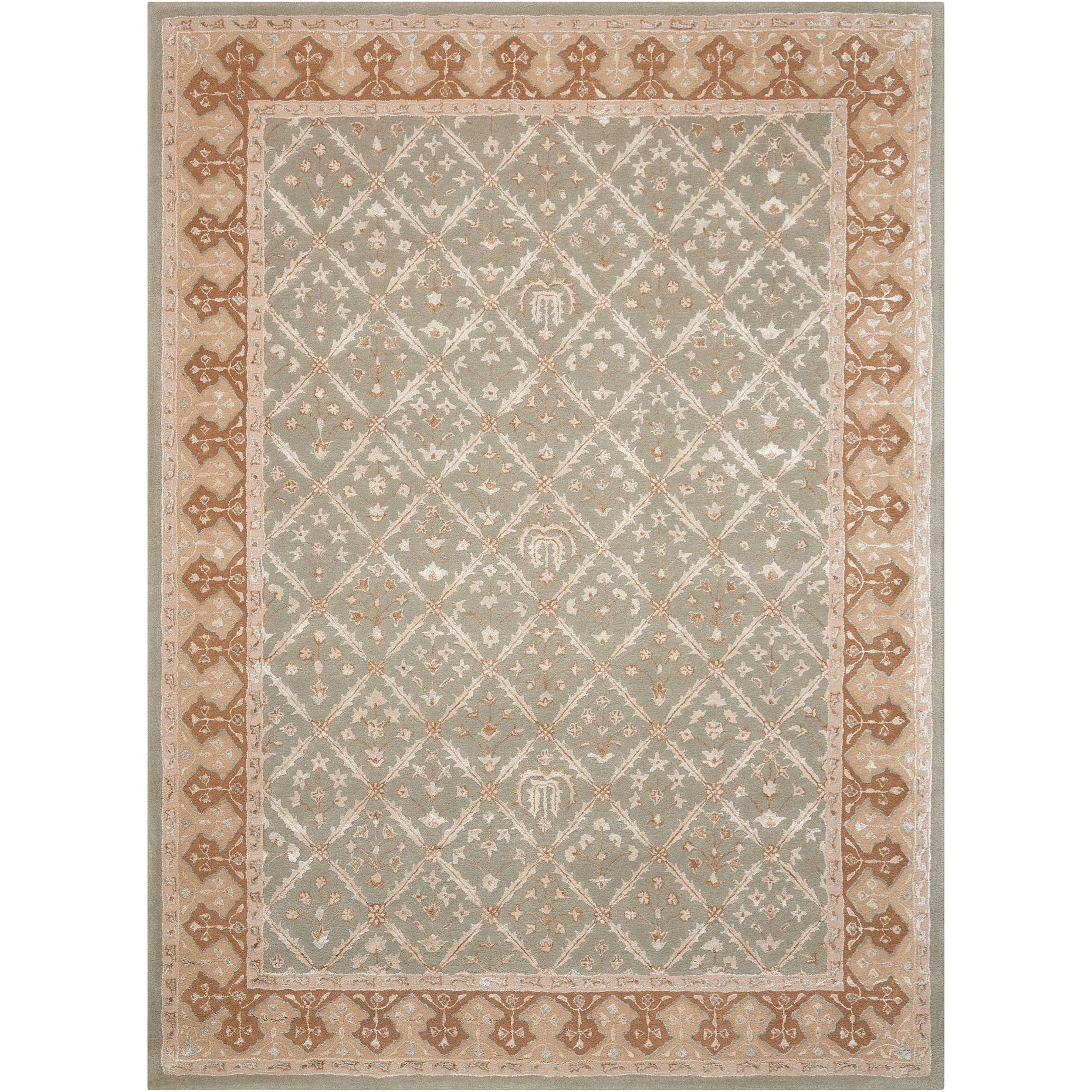 8' x 11' Light Green Rectangle Rug