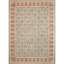 Nourison Symphony 8' x 11' Light Green Rectangle Rug - Item Number: SYM01 LTG 8X11