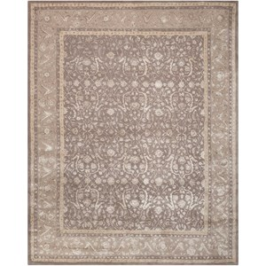 "Nourison Symphony 7'6"" x 9'6"" Grey Rectangle Rug"