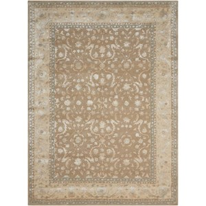 "Nourison Symphony 7'6"" x 9'6"" Latte Rectangle Rug"