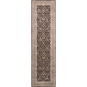 "Nourison Symphony 2'3"" x 8' Charcoal Runner Rug"