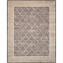 Nourison Symphony 8' x 11' Charcoal Rectangle Rug - Item Number: SYM05 CHA 8X11