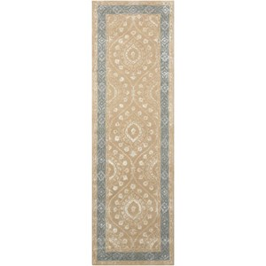 "Nourison Symphony 2'3"" x 8' Taupe Runner Rug"