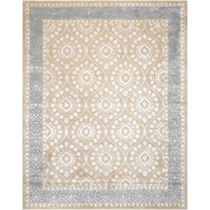 "Nourison Symphony 3'6"" x 5'6"" Taupe Rectangle Rug"
