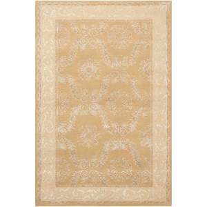 """3'6"""" x 5'6"""" Gold Rectangle Rug"""