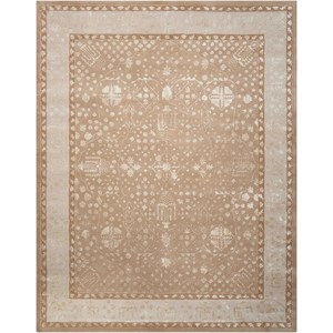 "Nourison Symphony 5'6"" x 7'5"" Warmtaupe Rectangle Rug"