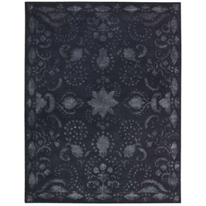 "Nourison Symphony 7'6"" x 9'6"" Indigo Rectangle Rug"