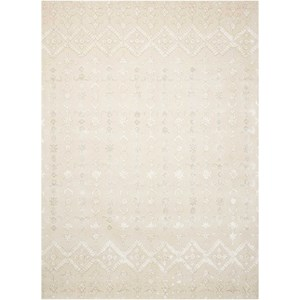 "Nourison Symphony 3'6"" x 5'6"" Ivory Rectangle Rug"