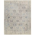 "Nourison Symphony 5'6"" x 7'5"" Ivory/Blue Rectangle Rug - Item Number: SYM14 IVB 56X75"