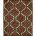 "Nourison Tahoe Modern 9'9"" x 13'9"" Brown Red Area Rug - Item Number: 18062"