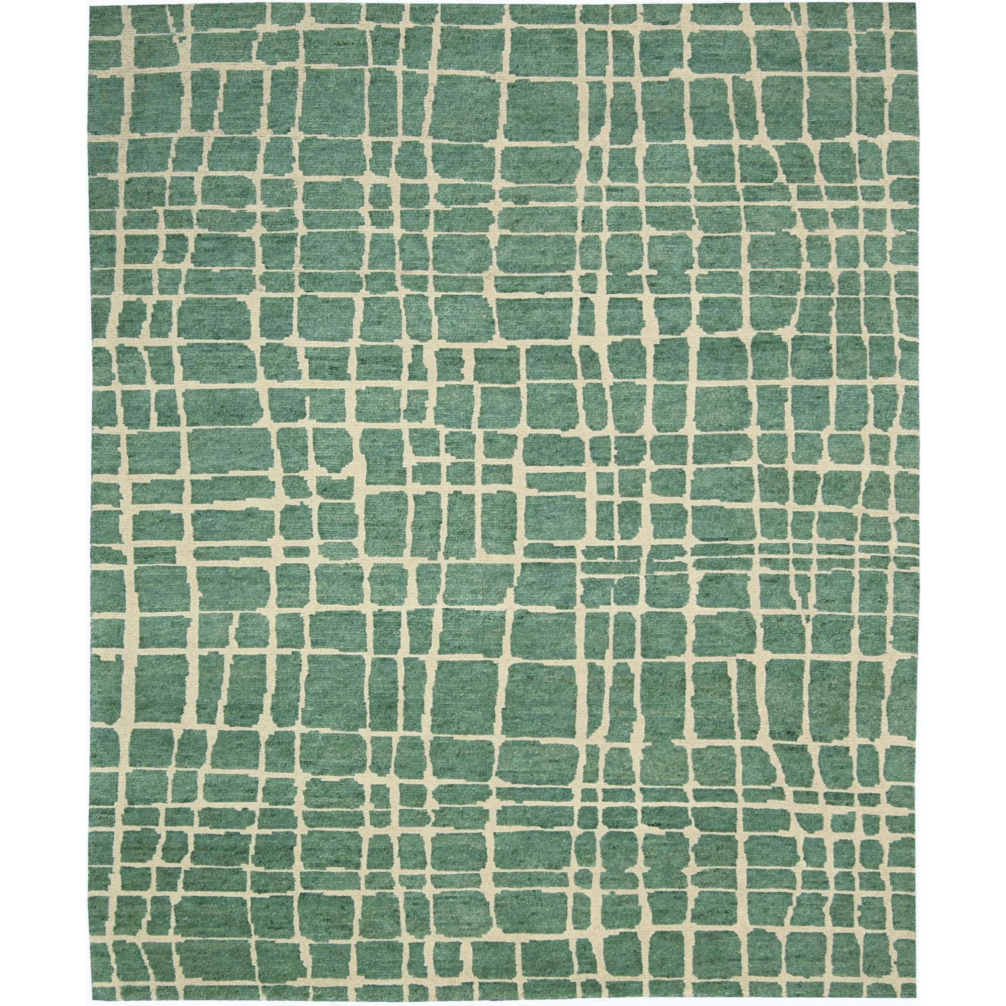 """Nourison Tahoe Modern 8'6"""" x 11'6"""" Turquoise Green Area Rug - Item Number: 18080"""
