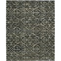 "Nourison Tahoe Modern 5'6"" x 8'6"" Charcoal Area Rug - Item Number: 18086"
