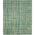 "Nourison Tahoe Modern 7'9"" x 9'9"" Turquoise Green Area Rug - Item Number: 18120"