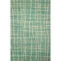 "Nourison Tahoe Modern 5'6"" x 8'6"" Turqois Green Rectangle Rug - Item Number: MTA03 TURGN 56X86"