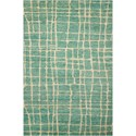 "Nourison Tahoe Modern 7'9"" x 9'9"" Turqois Green Rectangle Rug - Item Number: MTA03 TURGN 79X99"