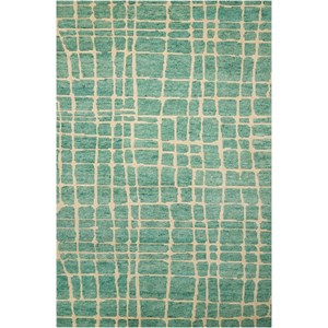 "Nourison Tahoe Modern 9'9"" x 13'9"" Turqois Green Rectangle Rug"