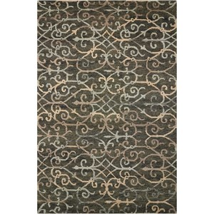 "Nourison Tahoe Modern 3'9"" x 5'9"" Charcoal Rectangle Rug"