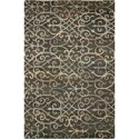 "Nourison Tahoe Modern 5'6"" x 8'6"" Charcoal Rectangle Rug - Item Number: MTA05 CHA 56X86"