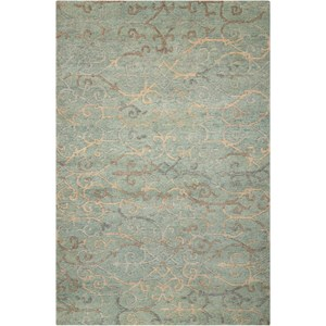 "Nourison Tahoe Modern 8'6"" x 11'6"" Seaglass Rectangle Rug"